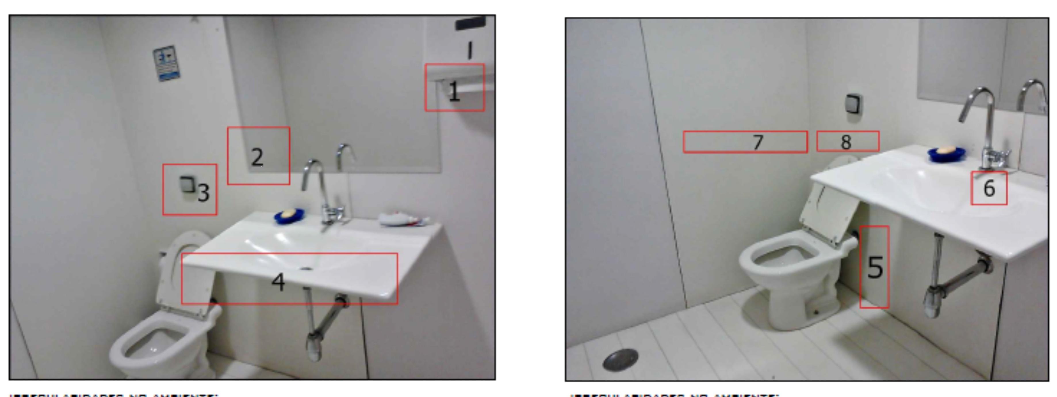 Projeto de adaptação de um banheiro: adequação à NBR9050  #814B4A 3676 1382