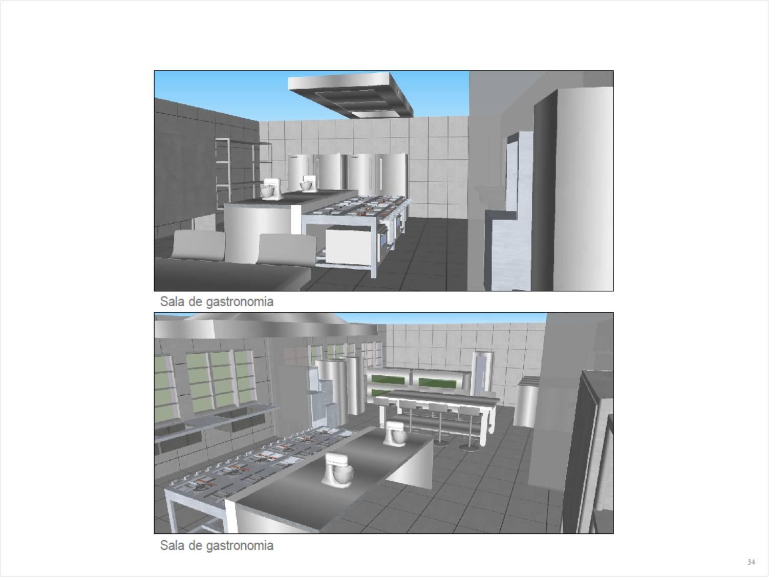 Cozinha Industrial Escrit Rio Modelo De Arquitetura E Urbanismo