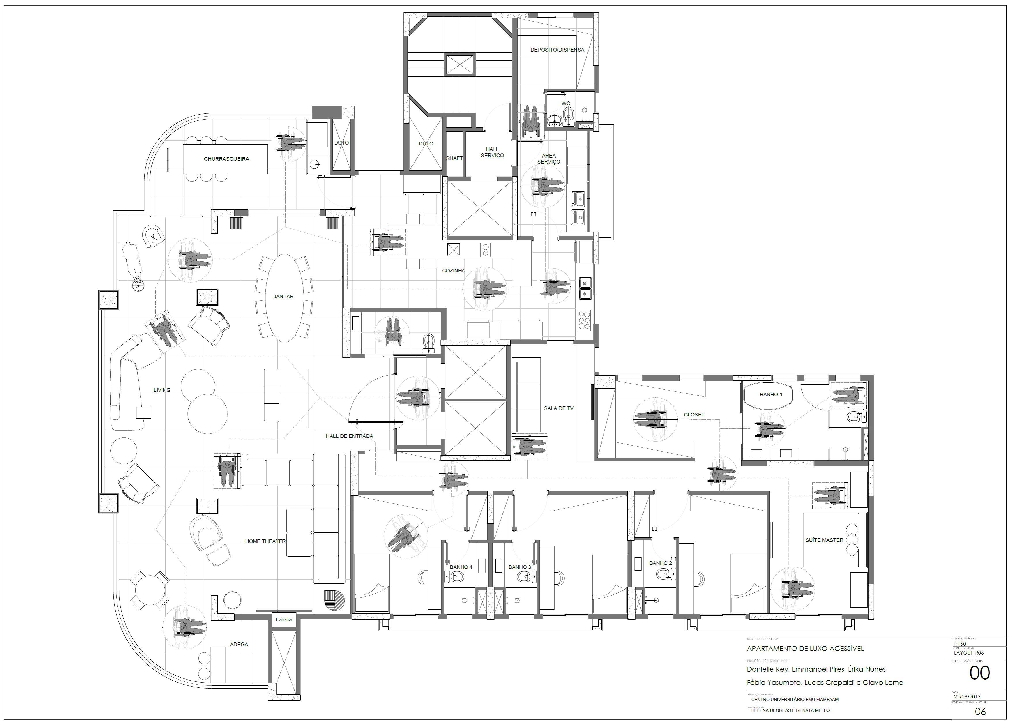 Revista Casa Projeto & Estilo FIAMFAAM apartamento acessível #666A61 3504x2514 Banheiro Acessivel Planta Baixa