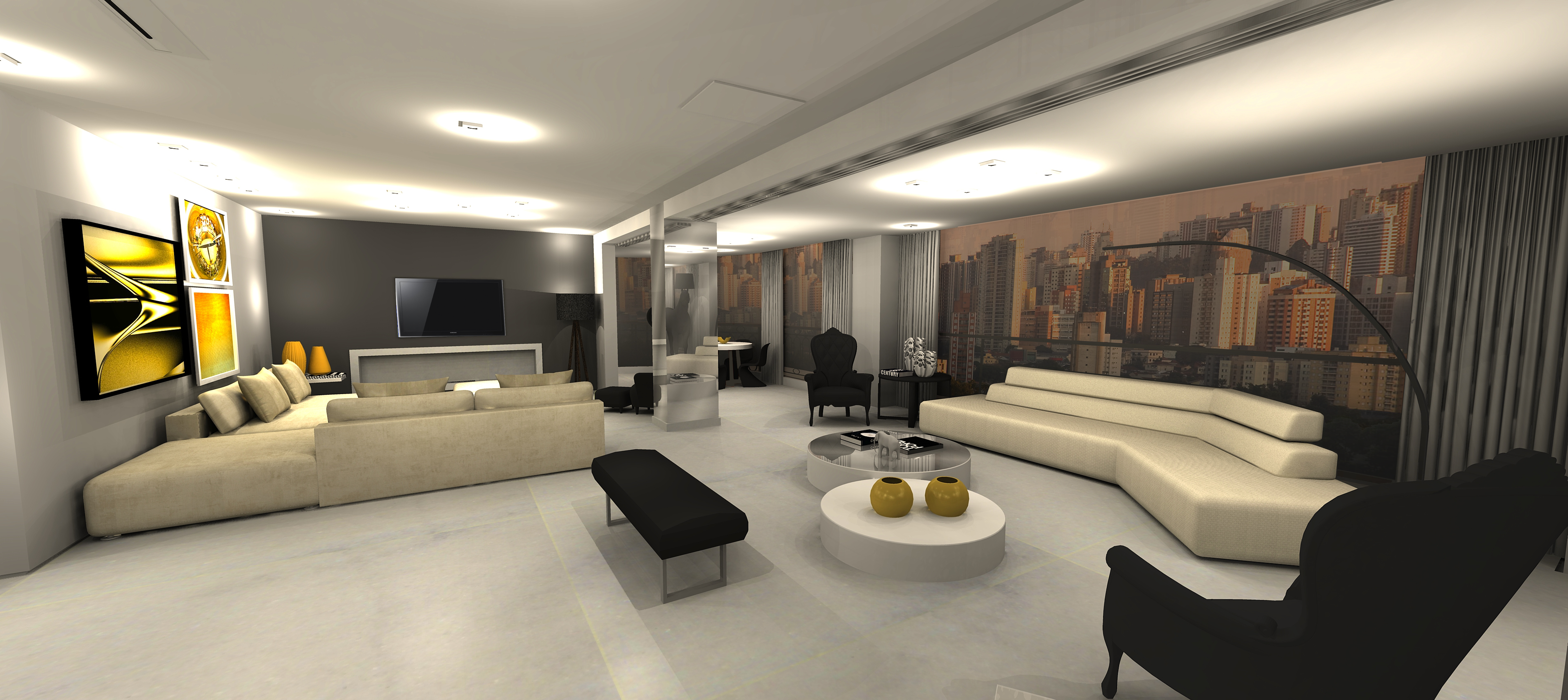 decoracao de sala luxo:acabamentos importados para a automação da tv equipamentos de som